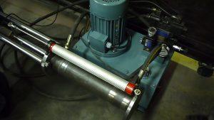 سیستم هیدرولیک و خط کش دیجیتال دستگاه تست لغزش کلمپ