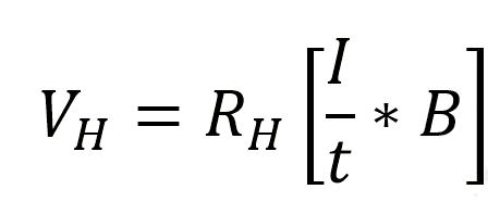 فرمول محاسباتی ولتاژ هال