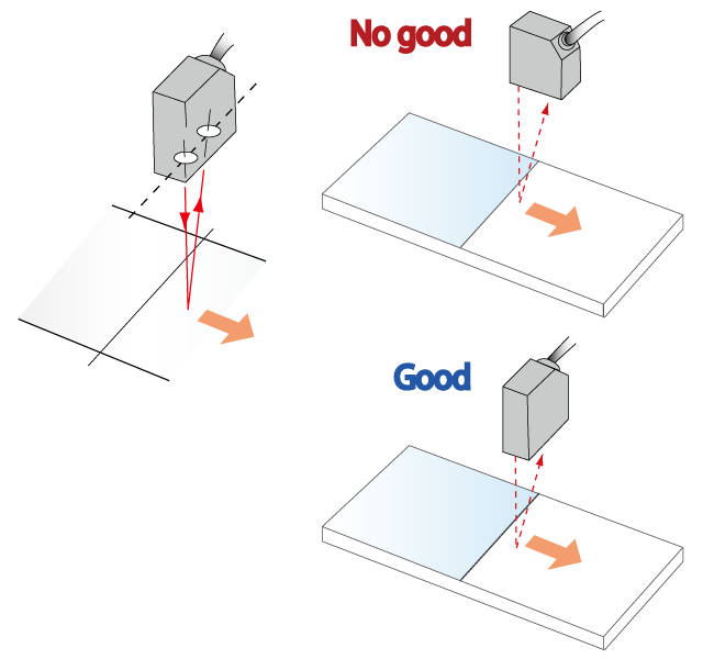 رعایت نصب هد سنسور با راستای حرکت