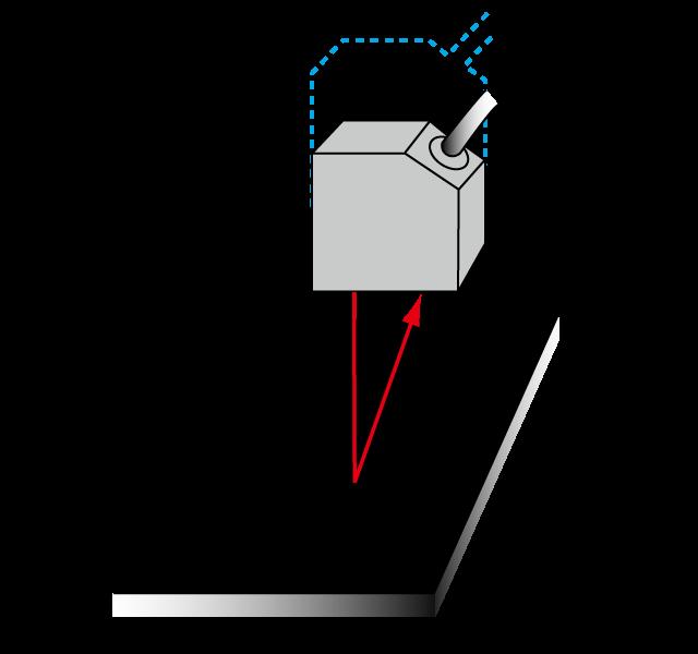 نصب سنسورهای اندازهگیری فاصله در نزدیکی جسم سیاه