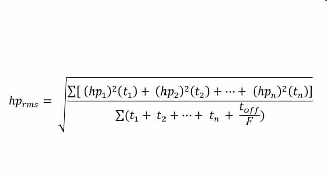 فرمول محاسبه توان RMS